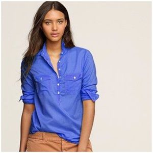 j. crew // ink dip popover top button down